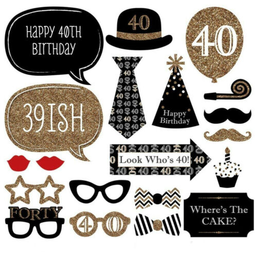 Party Props Photo Booth Funny Birthday Special for Dress Up Accessories 20pcs