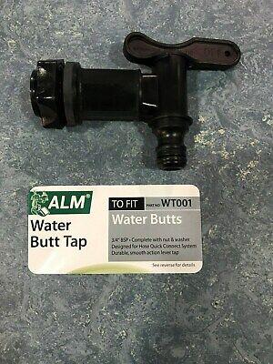 Alm Black Plastic Water Butt Tap,