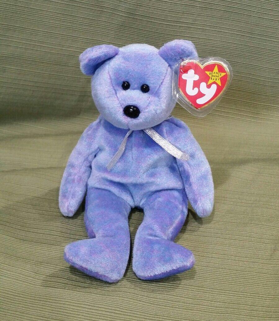 Ty Beanie Baby Clubby II the BBOC Bear w Tush Tag Error it just says Clubby