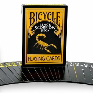 Black-Scorpion-Playing-Cards-MM-Bicycle-Black-Scorpion-Deck-USA-Made