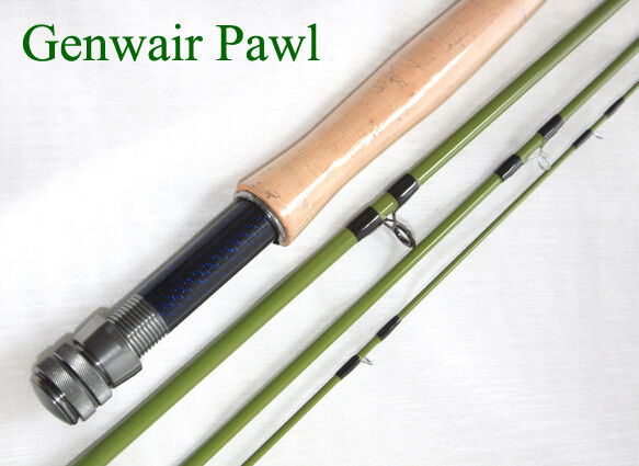 Genwair Pawl Fly Rod 4 piece Fly Rod With Bag Tube & Lifetime Guarantee Fly Rod