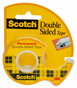 3M-Scotch-237-Permanent-Double-Sided-Tape-3-4-034-19mm-Wide-Photo-Safe
