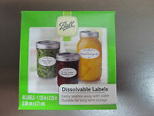 ball 10734 dissolvable food canning jar labels 6 boxes of 60 ebay