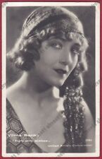 VILMA BANKY 11c ATTRICE ACTRESS CINEMA MUTO SILENT MOVIE Cartolina VIAGGIATA