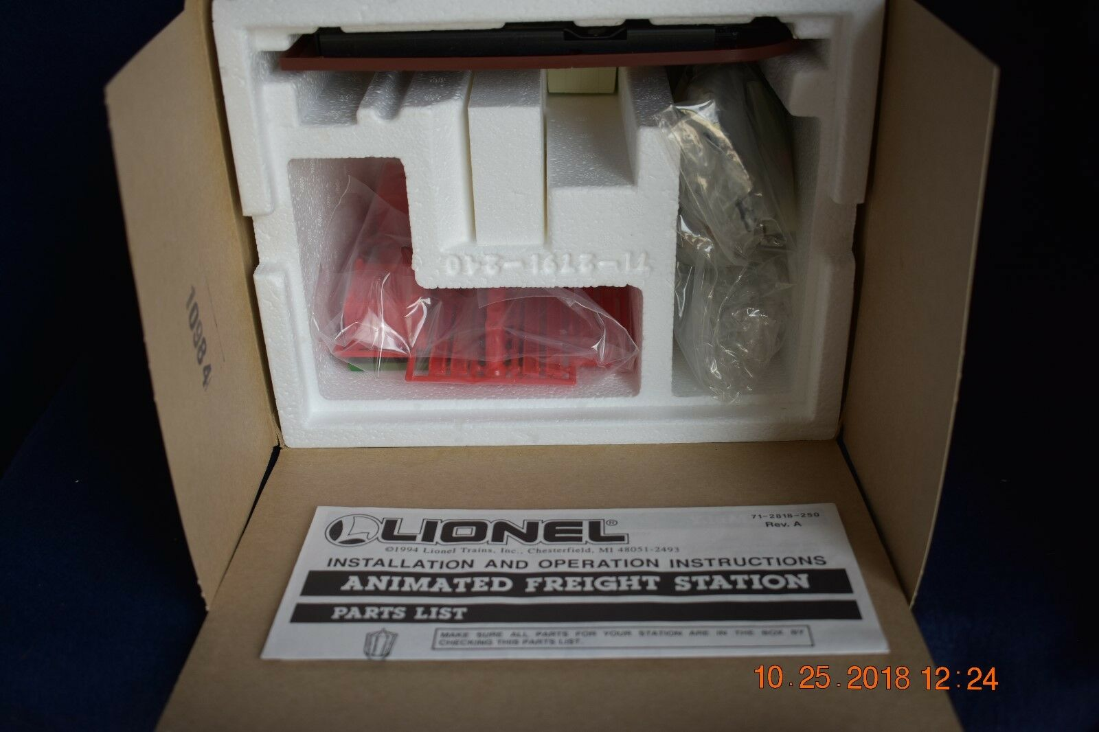 Lionel 12818 Animated Freight Station Nuovo In Box