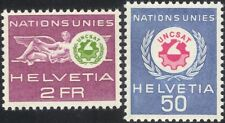 Switzerland (UN Offices) 1963 UNCSAT/Conference/Science/Technology 2v set n45314