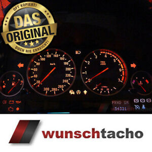 Tachoscheibe-fuer-BMW-E38-E39-E53-X5-M5-Look-300-Kmh-fuer-Benziner