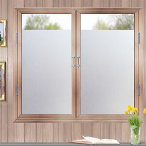 3M-Plain-PVC-Frosted-Window-Film-Opaque-Privacy-Glass-Stickers-Static-Cling