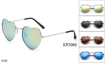Kids Aviator Sunglasses Classic Youth Metal Frame Heart Shape Lead Free UV 100/%