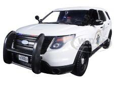 2015 FORD INTERCEPTOR POLICE UTILITY CHP WHITE 1/24 MODEL CAR BY MOTORMAX 76957