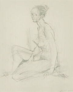 J. Dodd - 2002 Graphite Drawing, Seated Nude