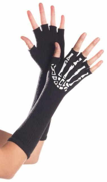 Mid Arm Length Satin Gloves Costume Accessory Adult Halloween