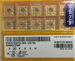 10stk Mitsubishi SNMG120404-MA US735 SNMG431MA Wendeplatten Carbide Inserts Neu