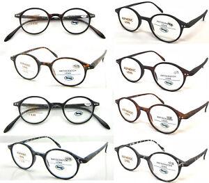 9414a23393 337 Plain Matte Classic Retro Vintage Style Round Reading Glasses ...