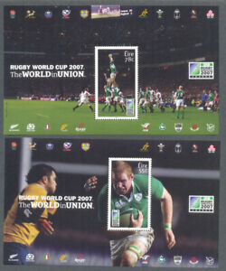 Ireland-Rugby-World-Cup-set-of-2-sheets-mnh-2007