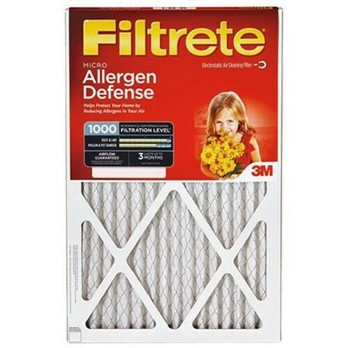 Filtrete MPR 1000 20 x 30 x 1 Micro Allergen Defense HVAC Air Filter 1 PK.