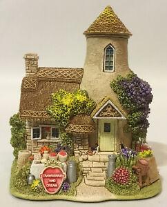 Vintage-Hermosa-Lilliput-Lane-Gold-Top-L2495-pantalla-obras-maestras-en-miniatura