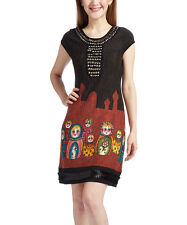 Aryeh Black & Red  Nesting Dolls Cup - Sleeve   Dress Size M ( 6 ) NWT