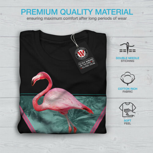 Wellcoda Flamingo Triangle Mens Long Sleeve T-shirt Palms Graphic Design