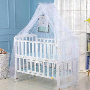 Baby-Bed-Mosquito-Net-Mesh-Dome-Curtain-Net-for-Toddler-Crib-Cot-Canopy-White-LT