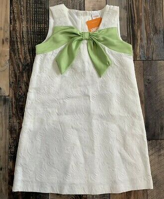 NWT GYMBOREE Girls Beautiful Cream Easter WEDDING Green Bow DRESS Size 5t