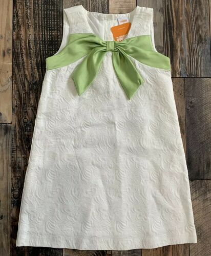 NWT GYMBOREE Girls Beautiful Cream Easter WEDDING Green Bow DRESS Size 5t