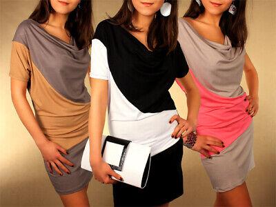 Da Donna Allentato Kimono Style Dress Drappeggiato Bicolore Smart Tunica Taglia 8-12 Uk 5902-mostra Il Titolo Originale Fabbricazione Abile