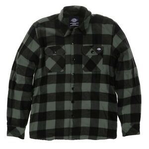 Dickies-Sacramento-Cheque-camisa-grava-Gris-Camisa-De-Trabajo-Hombre