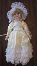 Doll w/ Long Blonde Hair & Yellow Dress Porcelain Bisque Head & Hands