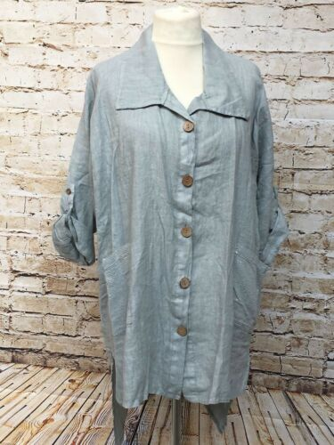 44 Moonshine Neu Tunika Gr Long 46 Bluse Leinen 48 Übergröße Fashion Lagenlook 8r8q6aOx