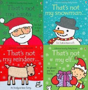 Touchy-Feely-Christmas-4-Book-Set-That-039-s-Not-My-Santa-Snowman-Reindeer-Elf