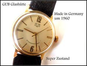 GUB-Glashuette-Kaliber-60-1-Herrenarmbanduhr-33-mm-Schraubgehaeuse-um-1960-Top