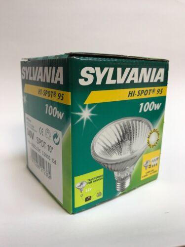 Sylvania Halogen Lamp Hi-Spot95 240V 75W//100W E27 Warm White Lamp Dimmable