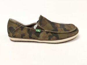 de1eb6785f19e SANUK MENS CASA SUEDE CAMO CASUAL BOAT CANVAS SHOES slip on loafer ...