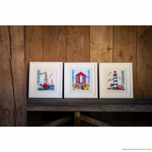 "Vervaco cross stitch kit /""Beach cabin/"" DIY counted"