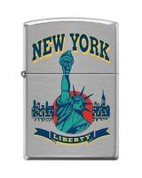 Zippo 5694 Statue Of Liberty York City High Polish Chrome Lighter