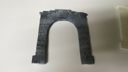 unpainted white or painted gray stone HO Scale Resin Tunnel Portal