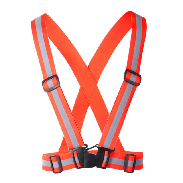 High Visibility Safety Vest With Reflective LED Strip Lights for multi-purpose