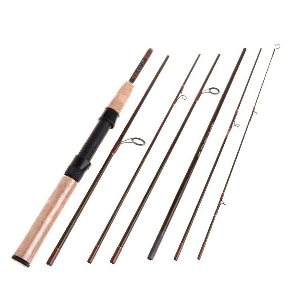 Carbon Fiber 7 Sections Fly Rod Fast Action Fly Fishing Rod Spin Trout Rod