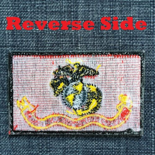 USMC United States Marine Corps Quality Embroidered Military Patch Badge Iron-On