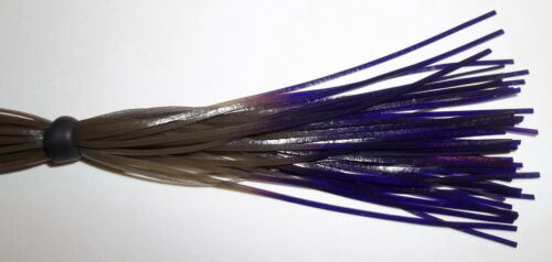 Green Pumpkin//Purple Tips 10 Hand Made Silicone Spinnerbait Skirts -Bass Fishing