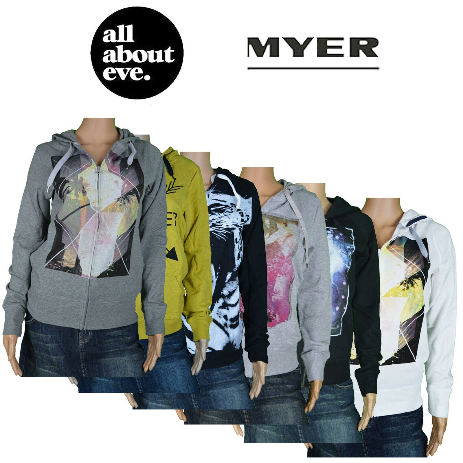 Myer All About Eve Little White Lie Fashion Hoodie Jumpers Winter Zip Graphic