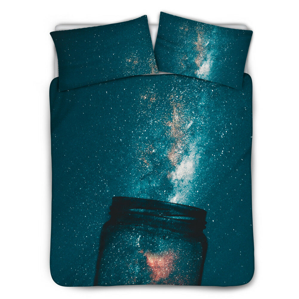 Galaxy Dream 3pcs Bedding Set Coverlet Comfort Bed Cover Mens Womens Twin Queen