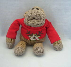 Knitting Pattern For Pg Tips Monkey : Soft Toy Brooke Bond PG Tips Knitted Christmas Monkey Chimp Johnny Vegas Fr P...