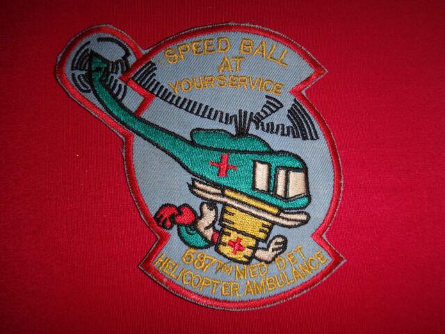 US Helicopter Ambulance 587th MEDICAL DETACHMENT Vietnam War Patch