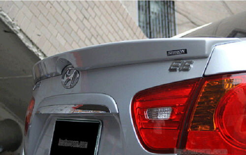 Rear Trunk wing Spoiler Painted Black For 2007 2010 Hyundai Elantra Avante HD