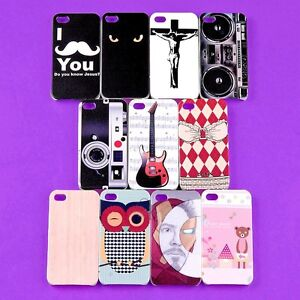 New-Lot-Colorful-Back-Skin-Case-TPU-Hard-Cover-Protector-for-iPhone-4-4S-4G