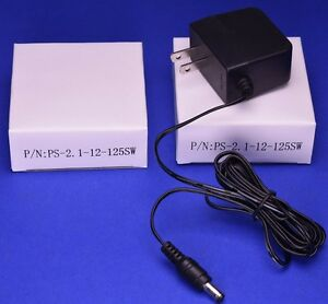 2 Pack 12V 1.25A Universal Switching Power Supply AC Adapter
