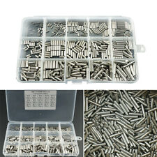 450pcs M2 M3 M4 Cylindrical Pin Set Home Furniture Component Box Stainless Steel
