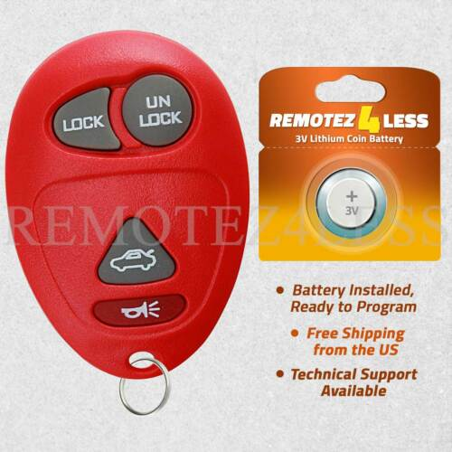 Keyless Entry Remote for 2001 2002 2003 2004 2005 Buick Century Car Key Fob Red